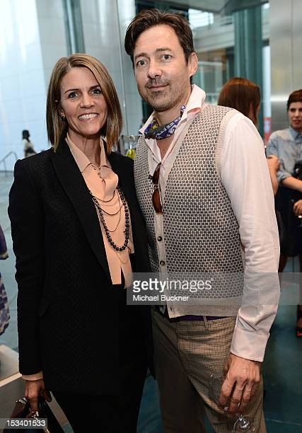 Colleen Bell and designer Gregory Parkinson attend the Director's Circle Celebration of WEAR LACMA Inaugural Designs by Johnson Hartig For Libertine...