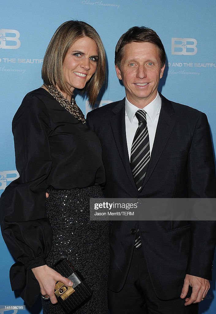 Colleen Bell, Associate Producer and husband Bradley Bell, Executive Producer attend the 5th Silver Anniversary party for CBS' 'The Bold And The Beautifu on March 10, 2012 in Los Angeles, California.