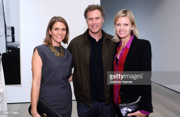 Colleen Bell Will Ferrell and Vivica Pauline Farrell attend the opening reception ror Glenn Ligon AMERICA At LACMA at LACMA on October 19 2011 in Los...