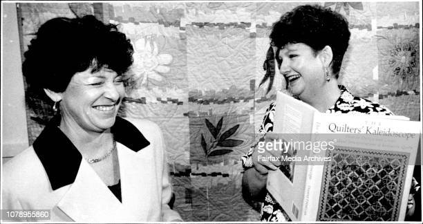 Colleen Fahey at the launch of Dianne Finnegan's book the Quilter's kaleidoscope at the powerhouse September 15 1992