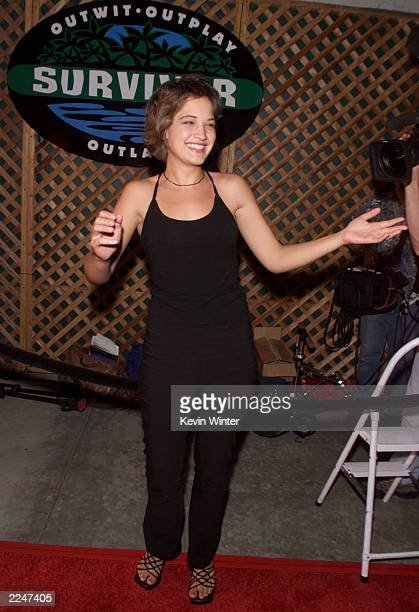 Colleen Haskell at the 'Survivor' party at CBS Television City Los Angeles Ca The cast was reunited on Wednesday August 23 2000 on the last night of...