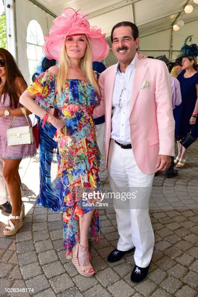 Colleen Rein and Gary Rein attend the Hampton Classic Grand Prix 2018 at Hampton Classic Horse Show grounds on September 2, 2018 in Bridgehampton,...