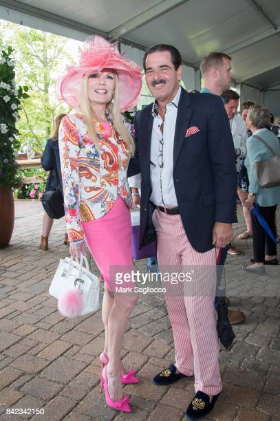 Colleen Rein and Gary Rein attend the Hamptons Magazine Grand Prix celebration at The Hampton Classic at Hampton Classic Horse Show grounds on...