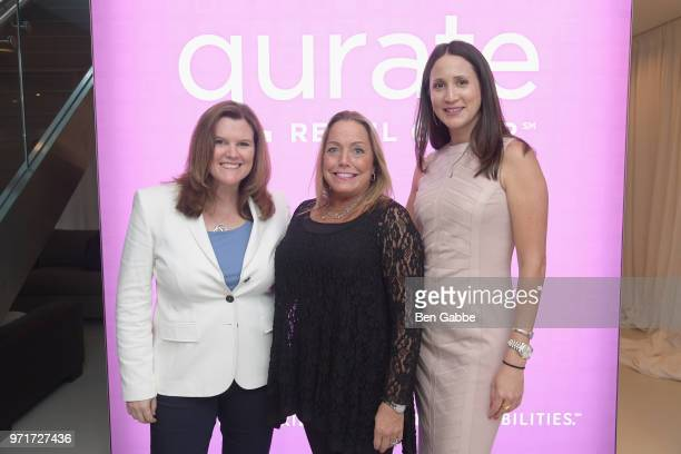 Colleen Rooney Beth Rubino and Courtnee Chun attends Qurate Retail Group Reception on June 11 2018 in New York City