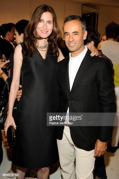 Colleen Sherin and Francisco Costa attend SAKS FIFTH AVENUE Celebrates the Opening of CALVIN KLEIN COLLECTION's New Women's Shop at Saks Fifth Avenue...