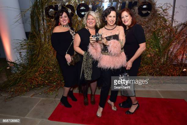 Colleen Tuu Diana Curylo Elizabeth Kahane and Christine Traina attend the Aperture Gala 'Elements of Style' at IAC Building on October 30 2017 in New...