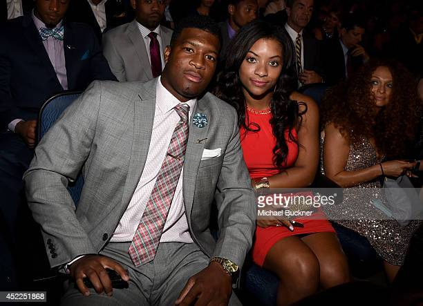College athlete Jameis Winston and Breion Allen attend The 2014 ESPYS at Nokia Theatre LA Live on July 16 2014 in Los Angeles California