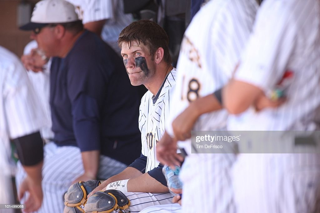 College of Southern Nevada Bryce Harper (34) on bench during Championship game vs Central Arizona at Merchants' Park. Lamar, CO 5/22/2010