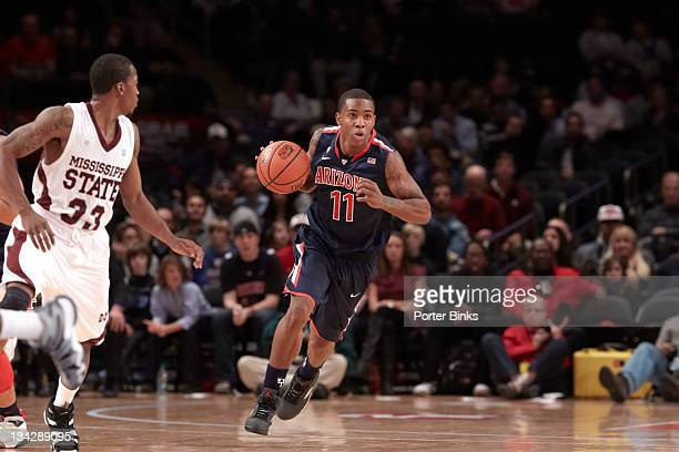 2K Sports Classic Benefiting Coaches vs Cancer Arizona Josiah Turner in action vs Mississippi State at Madison Square Garden New York NY CREDIT...