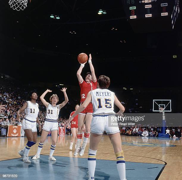 AIAW Championship Montclair State Carol Blazejowski in action shot vs UCLA Ann Meyers Los Angeles CA 3/23/1978 CREDIT Peter Read Miller