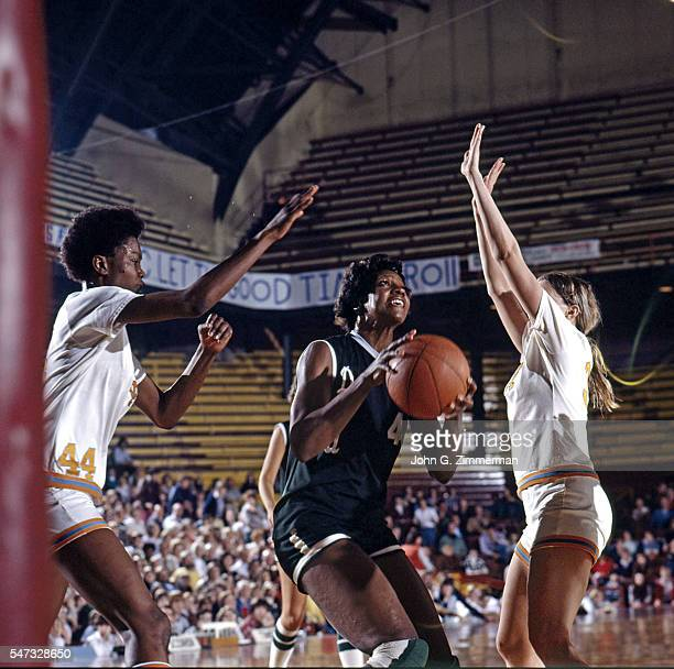 Semifinal: Delta State Lusia Harris in action vs Tennessee at Williams arena. Minneapolis, MN 3/25/1977 CREDIT: John G. Zimmerman