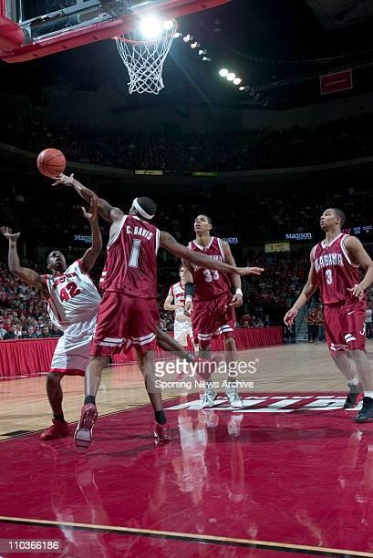College Basketball Alabama Chuck Davis against Wisconsin Alando Tucker in Madison Wis on Dec 29 2004 Wisconsin won 7662