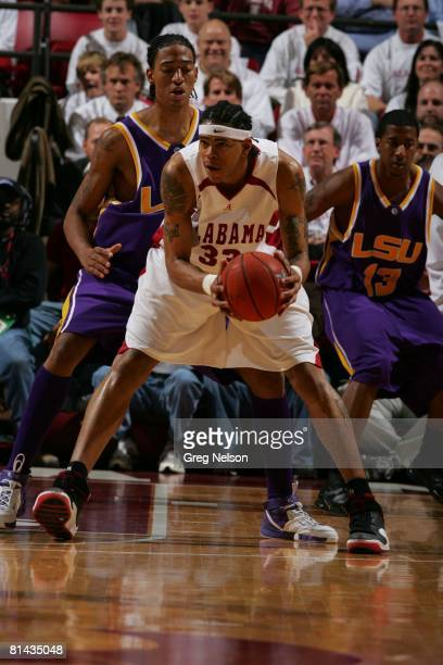 College Basketball Alabama Jermareo Davidson in action vs Louisiana State Tuscaloosa AL 1/9/2007