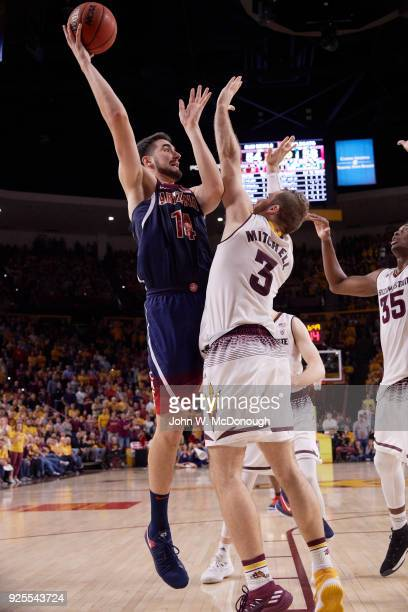 Arizona Parker Dusan Ristic in action vs Arizona State at Wells Fargo Center Tempe AZ CREDIT John W McDonough