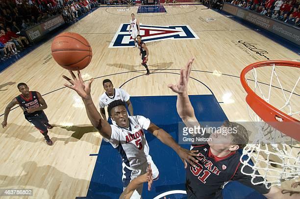 Arizona Stanley Johnson in action vs Utah Dallin Bachynski at McKale Center. Tucson, AZ 1/17/2015 CREDIT: Greg Nelson