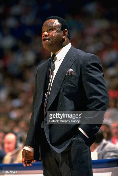 College Basketball: Arkansas coach Nolan Richardson during game vs Kentucky, Memphis, TN 3/11/1994