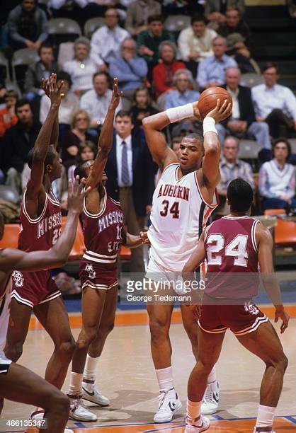 Auburn Charles Barkley in action vs Mississippi State at BeardEavesMemorial Coliseum Auburn AL CREDIT George Tiedemann