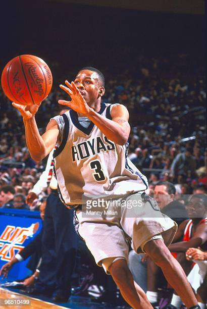 Big East Tournament Georgetown Allen Iverson in action vs Miami New York NY 3/7/1996 CREDIT Manny Millan