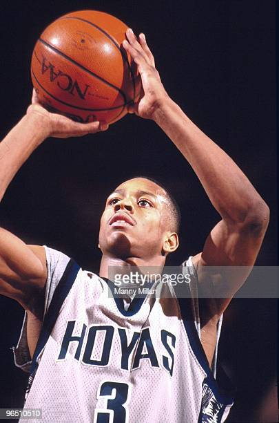 Big East Tournament Georgetown Allen Iverson in action vs Villanova New York NY 3/8/1996 CREDIT Manny Millan