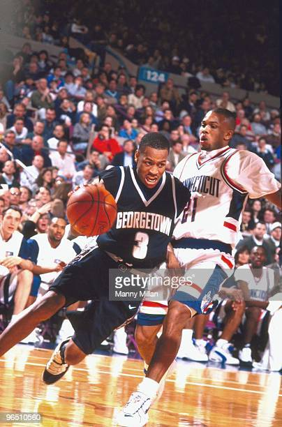 Big East Tournament Georgetown Allen Iverson in action vs UConn New York NY 3/9/1996 CREDIT Manny Millan