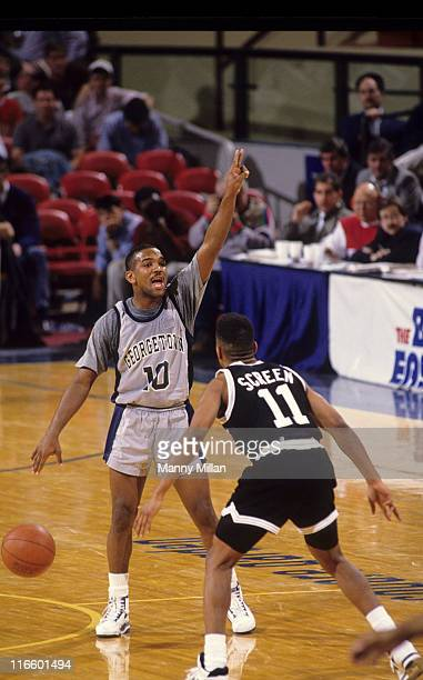 Big East Tournament Georgetown David Edwards in action vs Providence Carlton Screen during quarterfinals at Madison Square Garden New York NY CREDIT...