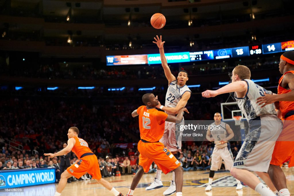 Georgetown Otto Porter Jr. (22) in action vs Syracuse during Semifinal game at Madison Square Garden. Porter Binks F3 )