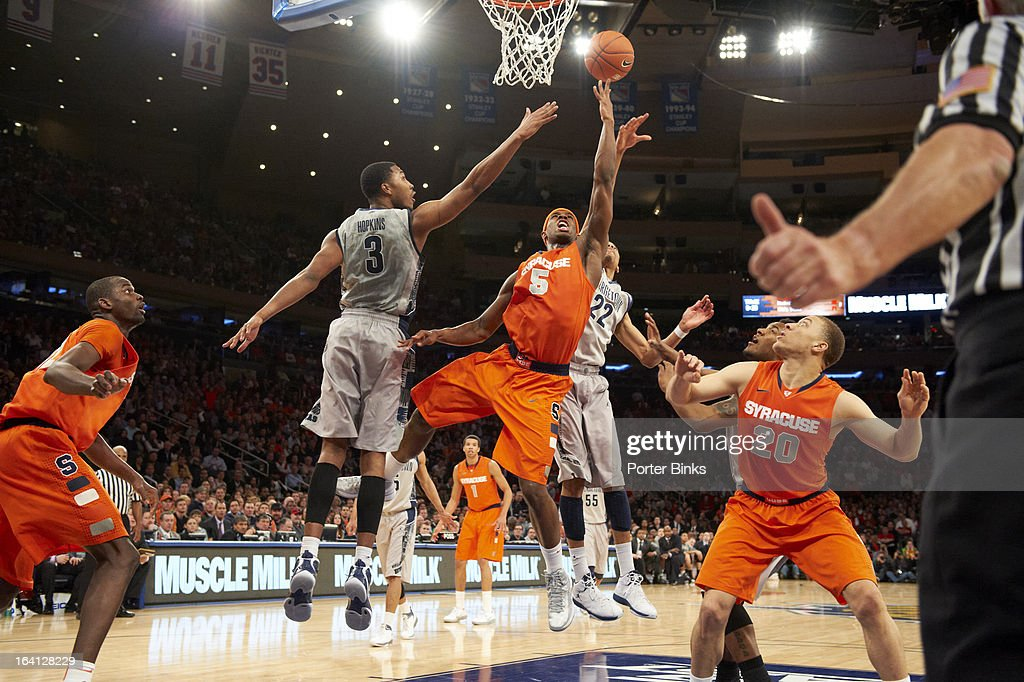 Syracuse C.J. Fair (5) in action vs Georgetown during Semifinal game at Madison Square Garden. Porter Binks F10 )