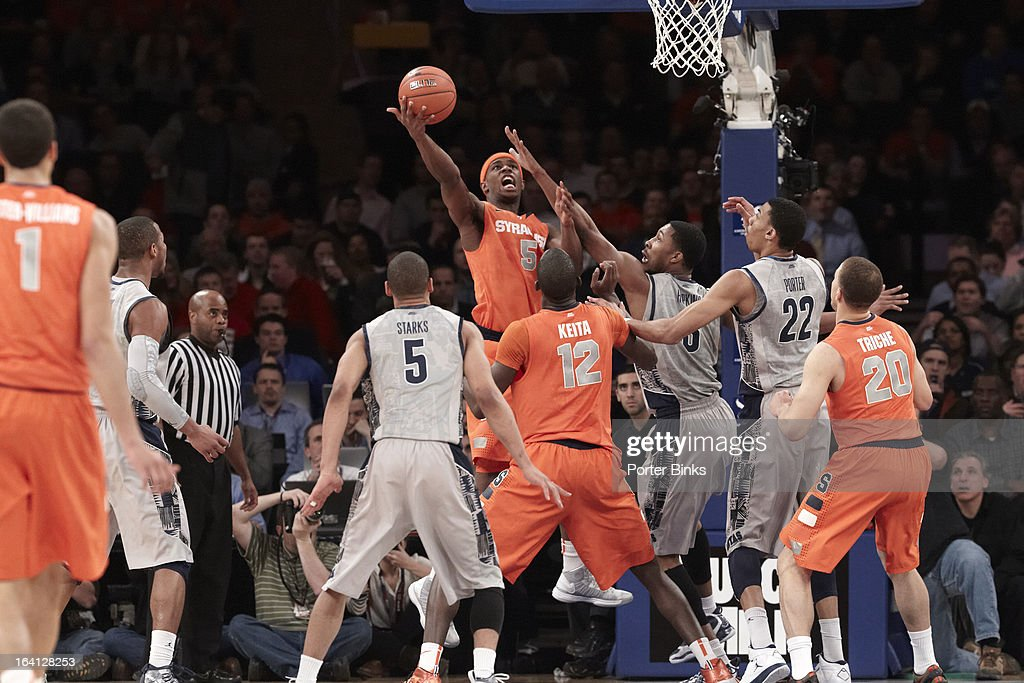 Syracuse C.J. Fair (5) in action vs Georgetown during Semifinal game at Madison Square Garden. Porter Binks F54 )