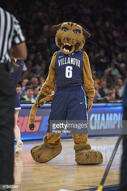 Big East Tournament Villanova Wildcats mascot Will D Cat on court during Quarterfinals game vs Louisville at Madison Square Garden New York NY CREDIT...