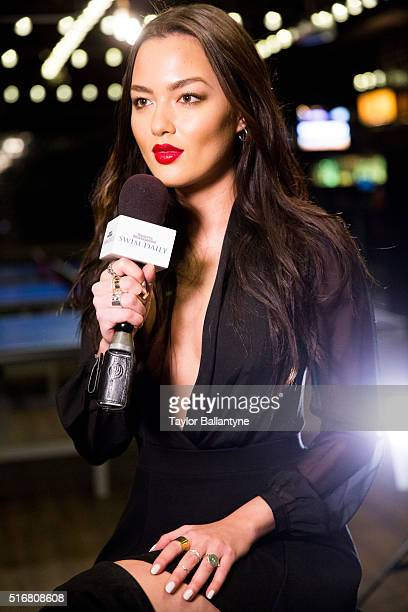 Bracket Challenge Party Portrait of SI Swimsuit model Mia Kang during event at Slate New York NY CREDIT Taylor Ballantyne