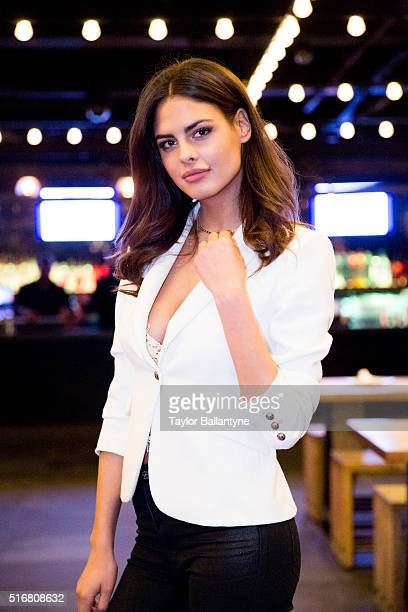 Bracket Challenge Party Portrait of SI Swimsuit model Bo Krsmanovic during event at Slate New York NY CREDIT Taylor Ballantyne