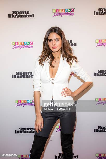 Bracket Challenge Party SI Swimsuit model Bo Krsmanovic posing on red carpet during event at Slate New York NY CREDIT Michael J LeBrecht II