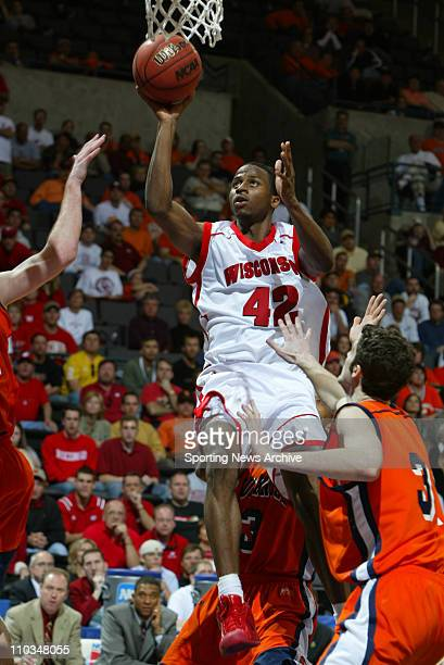 College Basketball Bucknell against Wisconsin Alando Tucker during the second round of the NCAA Tournament in Oklahoma City Okla on March 20 2005...