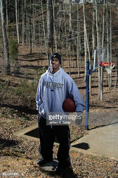 Casual portrait of Wake Forest point guard Chris Paul posing during photo shoot outside his home WinstonSalem NC CREDIT Jeffery A Salter