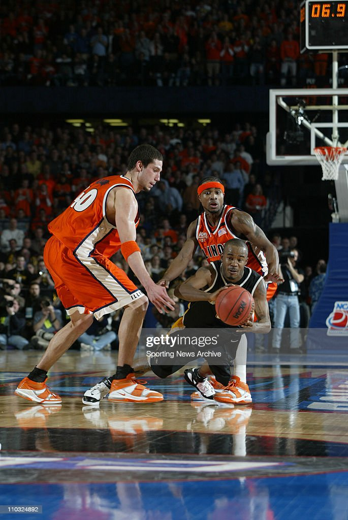 college basketball championship illinois james augustine dee brown against wisconsin milwaukee chris hill