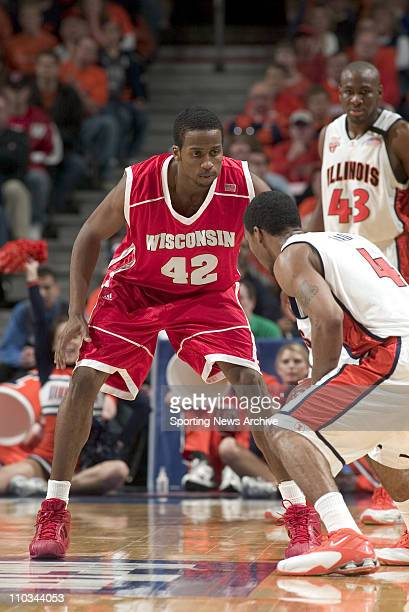 College Basketball Championship Illinois Luther Head against Wisconsin Alando Tucker during the Big 10 Tournament at the United Center in Chicago Ill...