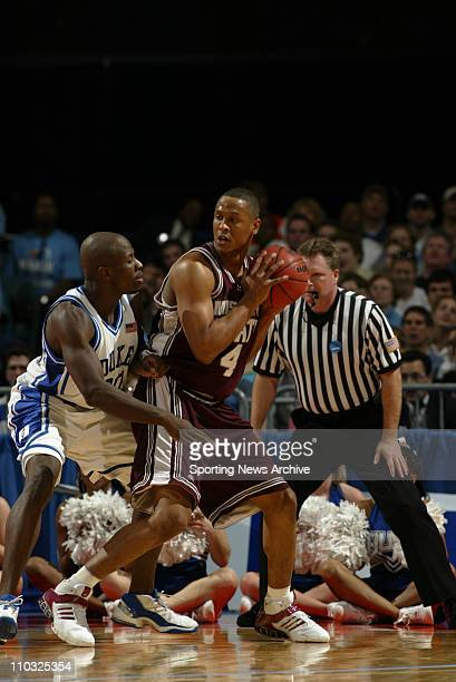 College Basketball Championship Mississippi State Lawrence Roberts against Duke Reggie Love during the second round of the NCAA Tournament at the...