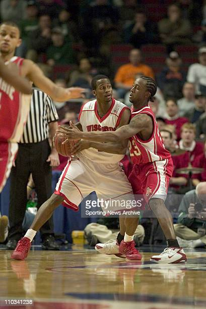 College Basketball Championship Wisconsin Alando Tucker against Ohio State Je'Kel Foster during the Big 10 Tournament at the United Center in Chicago...