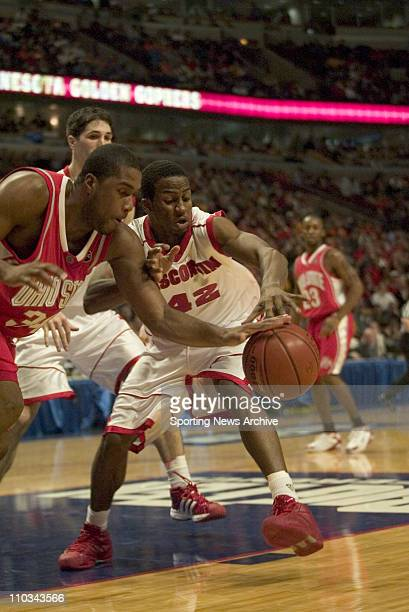 College Basketball Championship Wisconsin Alando Tucker against Ohio State Terence Dials during the Big 10 Tournament at the United Center in Chicago...