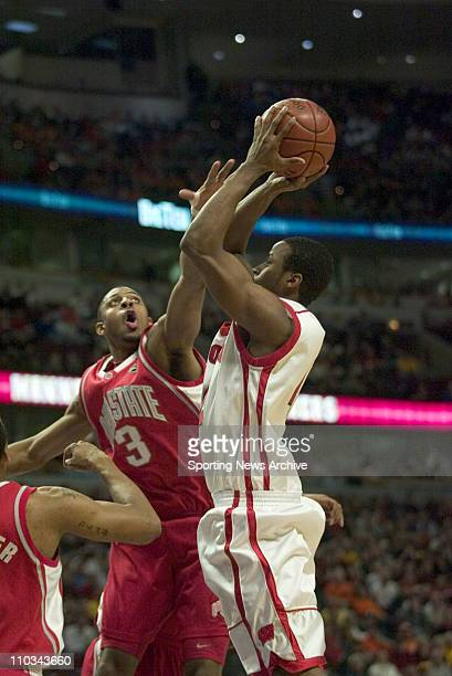 College Basketball Championship Wisconsin Alando Tucker against Ohio State Ivan Harris during the Big 10 Tournament at the United Center in Chicago...