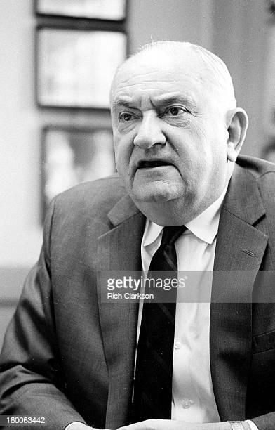Closeup portrait of Kentucky coach Adolph Rupp in his office at Memorial Coliseum Lexington KY CREDIT Rich Clarkson