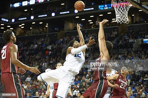 Coaches vs Cancer Classic Duke Justise Winslow in action offbalance shot vs Stanford Stefan Nastic during Championship game at Barclays Center...