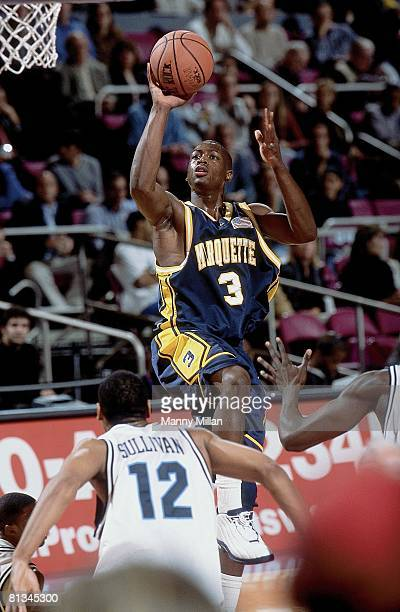 College Basketball Coaches vs Cancer Classic Marquette Dwyane Wade in action taking shot vs Villanova New York NY