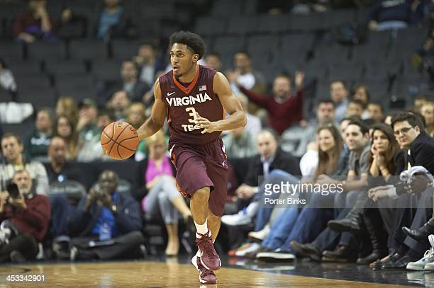 Coaches vs Cancer Classic Virginia Tech Adam Smith in action vs Michigan State at Barclays Center Brooklyn NY CREDIT Porter Binks