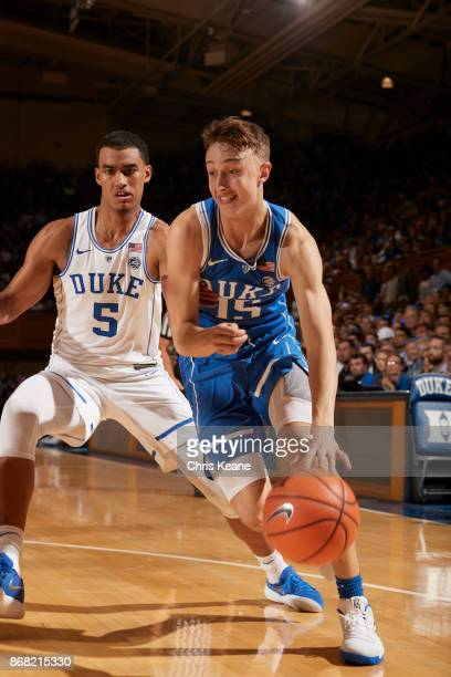 Countdown to Craziness Duke Alex O'Connell during intrasquad scrimmage vs Duke Jordan Tucker at Cameron Indoor Stadium Durham NC CREDIT Chris Keane