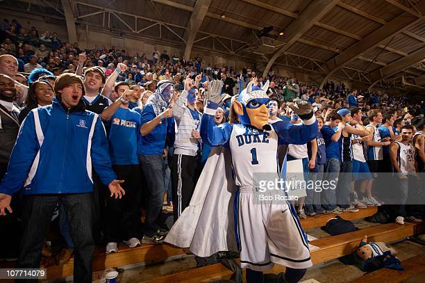 Duke Cameron Crazies fans with Blue Devils mascot in stands during game vs Michigan State at Cameron Indoor Stadium Durham NC 12/1/2010CREDIT Bob...