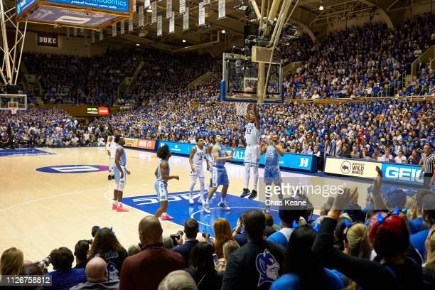 Duke Javin DeLaurier in action dunking vs North Carolina at Cameron Indoor Durham NC CREDIT Chris Keane