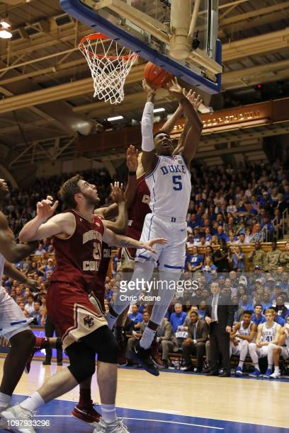 Duke RJ Barrett in action vs Boston College at Cameron Indoor Durham NC CREDIT Chris Keane
