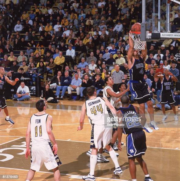 Duke's Carlos Boozer in action, making dunk vs Georgia ...