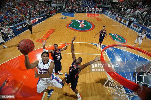 College Basketball Florida Al Horford in action taking shot vs Auburn Gainesville FL 1/14/2006